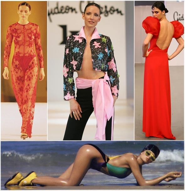 עיצוביו של אוברזון, כולל הפרסומת השערורייתית עם פזית כהן בבגד ים. פרש על רקע מיצוי, לדבריו