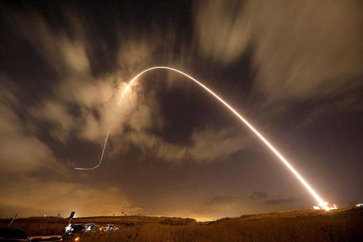 ירי כיפת ברזל בעוטף עזה, צילום: רויטרס