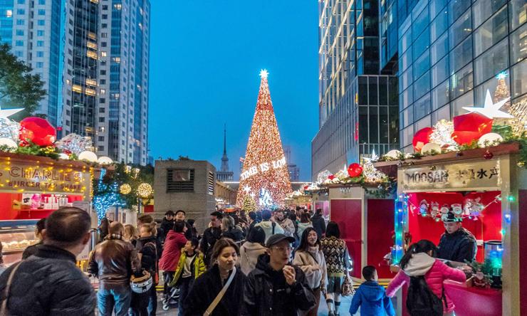 אווירת חג בשנגחאי, צילום: גטי