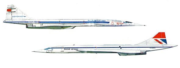 קונקורד וקונקורדסקי, טופולב Tu144, צילום: zonamilitar