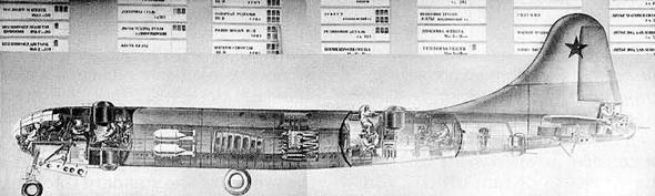 שרטוט של מטוס ה-B29, מתוך מסמכים מברית המועצות