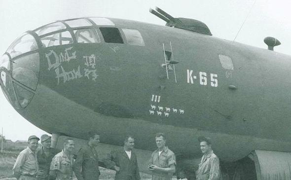 """מטוס ה-B29 """"דונג האו"""", אחד מהשלושה שנחת ברוסיה"""