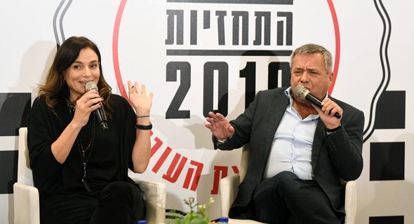"""אורי יהודאי מנכ""""ל פרוטרום וציפי עוזר ערמון מנכ""""לית לומניס, צילום: יאיר שגיא"""