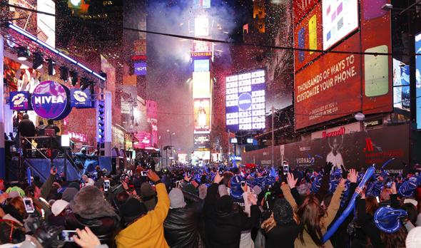 טיימס סקוור בערב השנה החדשה (ארכיון), צילום: שאטרסטוק