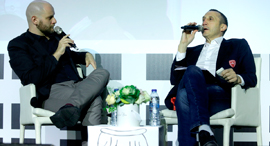 Ouriel Daskal (left) and David Blatt. Photo: Amit Sha