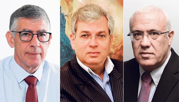 """מימין: מנכ""""ל אירונאוטיקס עמוס מתן, אהרון פרנקל ומנכ""""ל תע""""א נמרוד שפר"""