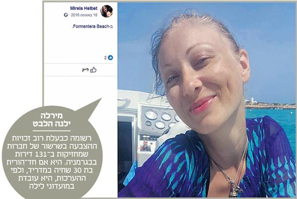 מירלה ילנה הלבט, מתוך עמוד הפייסבוק שלה, צילום מסך: פייסבוק