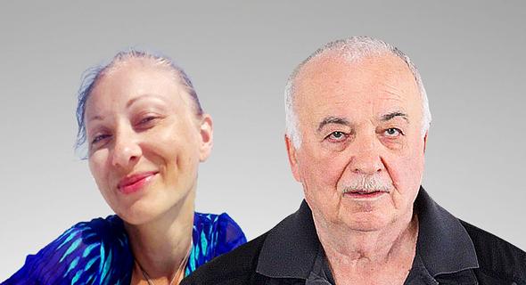 אליעזר פישמן איש עסקים ו מירלה ילנה הלבט חשפנית, צילום: אוראל כהן, פייסבוק