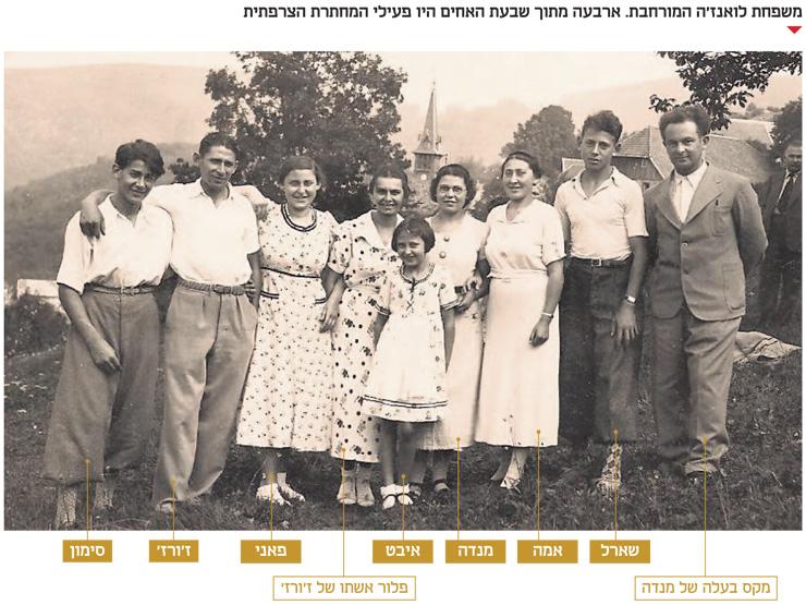 ז'ורז ואחיותיו מנדה, אמה ופאני לואנז'ה בילדותם. ארבעה מתוך שבעת האחים היו פעילי המחתרת הצרפתית