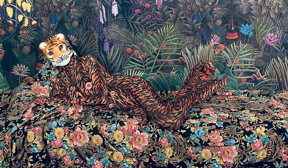 """""""נמר"""" של אריאלה שביד מהתערוכה """"עידן חדש"""". שאלות על חיים ומוות"""