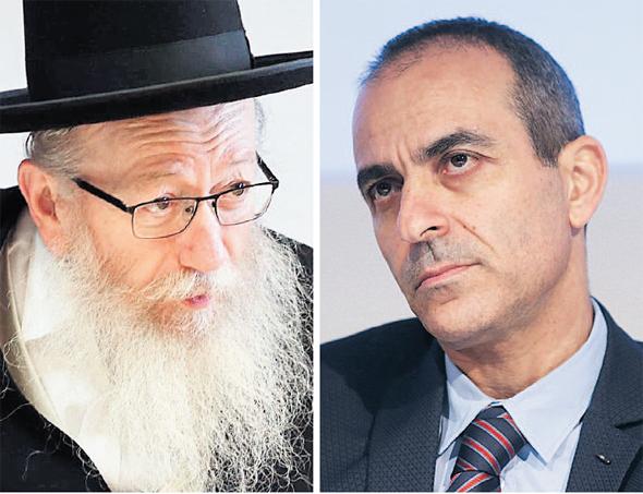 """מנכ""""ל איכילוב פרופ' רוני גמזו וסגן שר הבריאות יעקב ליצמן"""