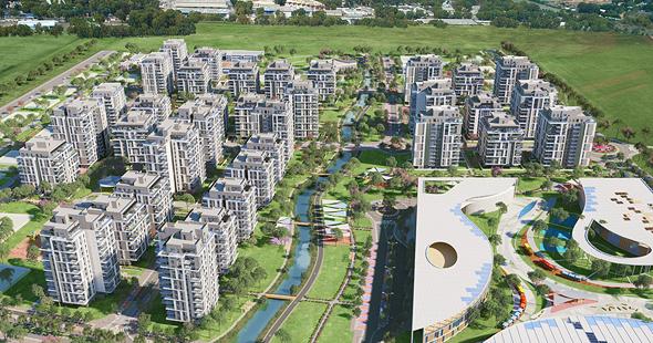 הדמיית פרויקט בית בפארק באור יהודה, הדמיה: viewpoint