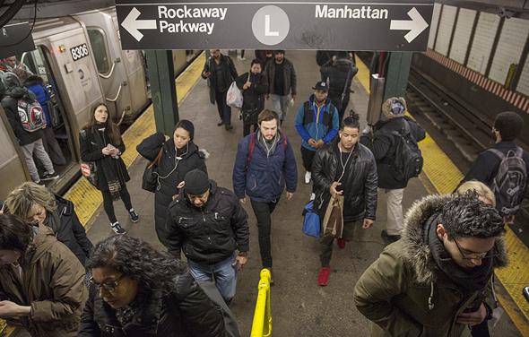 אחד הקווים העמוסים בניו יורק, צילום: בלומברג