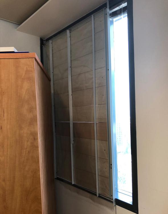 החלון החסום בבניין