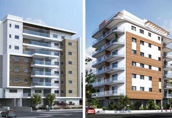 """הפרויקטים של אוראקל ברחוב הל""""ה 11 (מימין) וברחוב בן ציון 10"""
