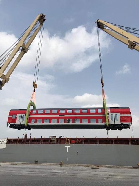 קרונות חדשים לרכבת, צילום: דוברות רכבת ישראל, סיגל ספנות