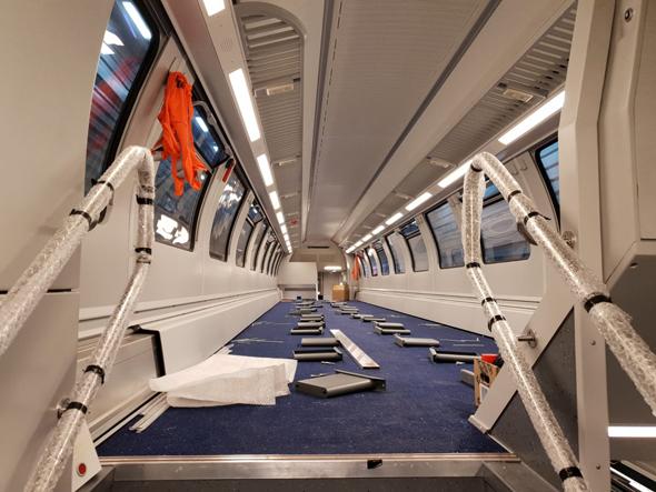 הקרונות החדשים לפני הרכבתם, צילום: דוברות רכבת ישראל, סיגל ספנות