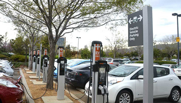 עמדת הטענה לרכב חשמלי של ChargePoint