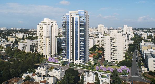 הדמיית מגדל המיועד להיבנות על ידי קבוצת רכישה בשכונת נאות אפקה בתל אביב, הדמיה: 3 DIVISION