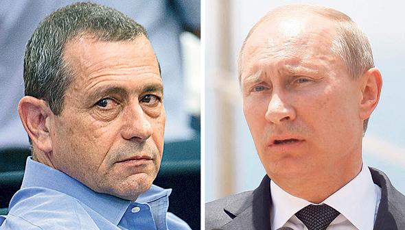 """מימין: נשיא רוסיה ולדימיר פוטין וראש השב""""כ נדב ארגמן. התערבות זרה, צילומים: אוהד צויגנברג, נמרוד גליקמן"""