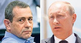 """מימין נשיא רוסיה ולדימיר פוטין וראש ה שב""""כ נדב ארגמן, צילומים: אוהד צויגנברג, נמרוד גליקמן"""