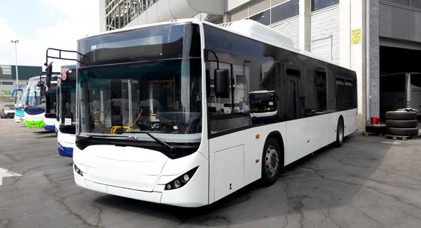 אוטובוס חשמלי מתוצרת הארגז, צילום: דובר משרד התחבורה