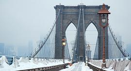 פוטו תמונות חורף גשר ברוקלין ניו יורק, צילום: שאטרסטוק