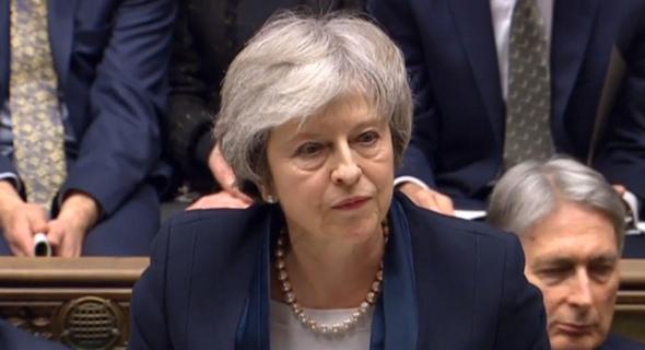 """תרזה מיי. """"כלכלת בריטניה חזקה מאוד"""""""