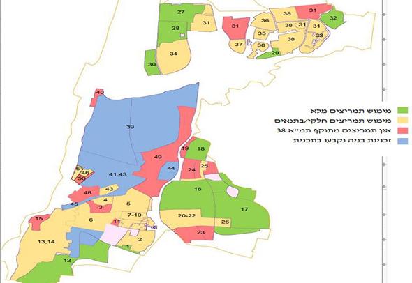 מפת תמריצים אתר עיריית תל אביב