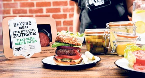"""ההמבורגר של ביונד מיט. הפיתוח מאפשר לבשר הצמחי """"לדמם"""""""