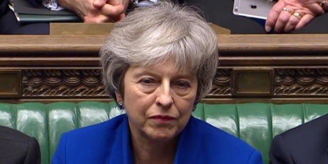"""ראש ממשלת בריטניה תרזה מיי. """"אירוע חמור במיוחד ומאכזב מאוד"""", צילום:AFP"""