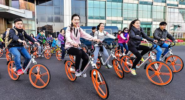 סיפור הצלחה.  אופני מובייק מדרום סין