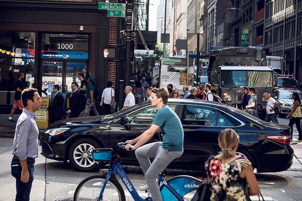 נהג של אובר ניו יורק, צילום: בלומברג