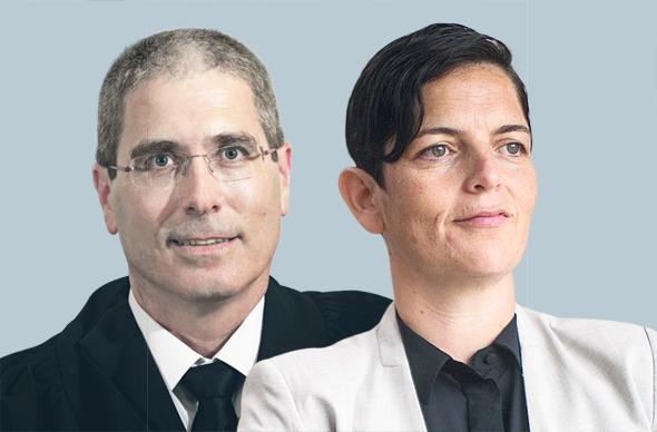 """מימין: הכנ""""רית סיגל יעקבי והשופט חגי ברנר, צילומים: אתר הנהלת בתי המשפט, אוהד צויגנברג"""