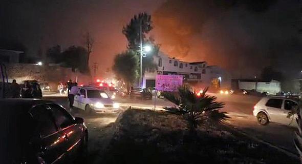 אזור הפיצוץ במקסיקו, צילום: רויטרס