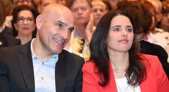 מימין איילת שקד שרת המשפטים אפי נוה יור לשכת עורכי הדין, צילום: יאיר שגיא