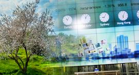 """בורסה בורסת תל אביב שקדיה ט""""ו בשבט, צילום: בלומברג, מנו גרינשפן"""
