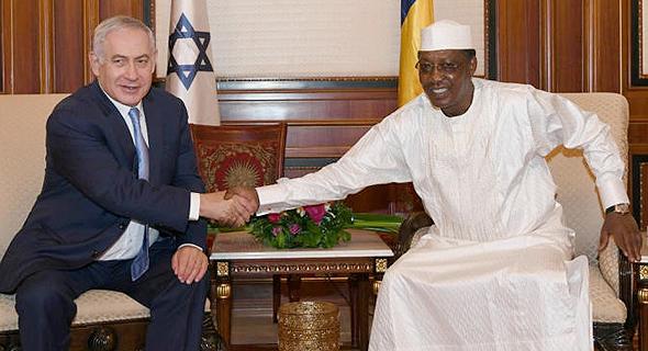 בנימין נתניהו נשיא צ'ד Idriss Deby, צילום: רויטרס