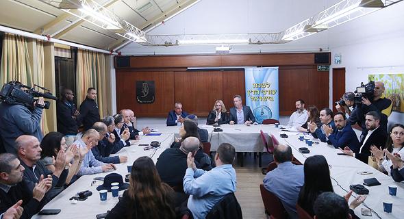 ישיבה של המועצה של לשכת עורכי הדין, צילום: אוראל כהן