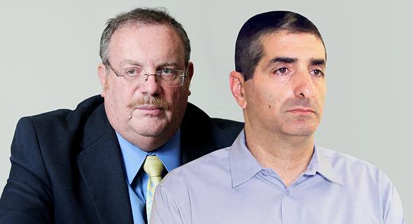 מימין: מנהל שיבא יצחק קרייס ונציב שירות המדינה דניאל הרשקוביץ