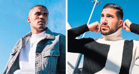 שחקני יובנטוס מדגמנים לבוש אזרחי. יובנטוס מפתחת מותג בגדי רחוב