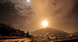 התקיפה בסוריה, הלילה, צילום: EPA