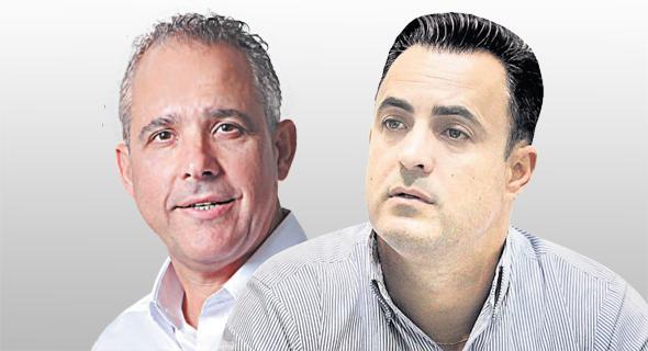 """מימין: מנכ""""ל אופל בלאנס דני מזרחי ומנכ""""ל האחים נאוי דורי נאוי"""