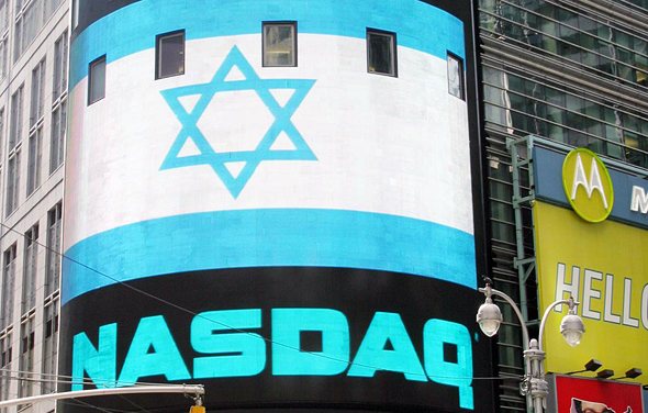 """דגל ישראל בבורסת נאסד""""ק, צילום: israeltrade.org"""