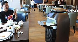 מלון רובוטי פלייזו של עליבאבא בהאנגז'ו בסין, צילום: גטי אימג'ס