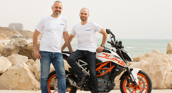 Ride Vision's co-founders Lior Cohen (left) and Uri Lavi. Photo: Ride Vision