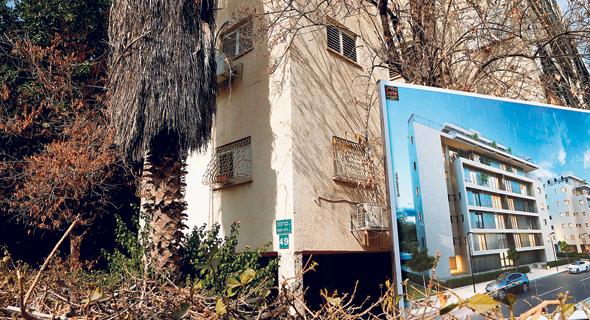 """בניין בבורוכוב בגבעתיים, מיועד לתמ""""א 38. גם תמהיל הדירות השתנה"""