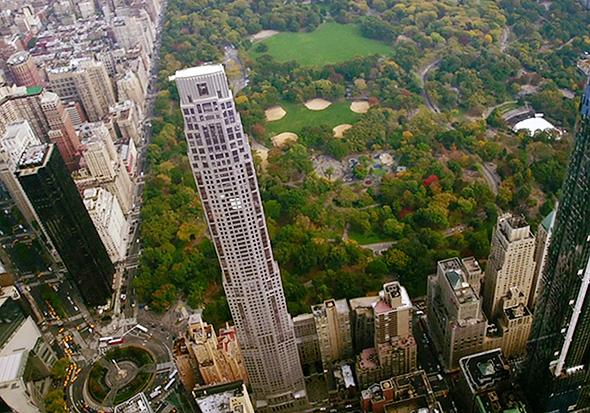 """מבט מן האוויר על הבית היקר ביותר בארה""""ב הממוקם בסנטרל פארק"""