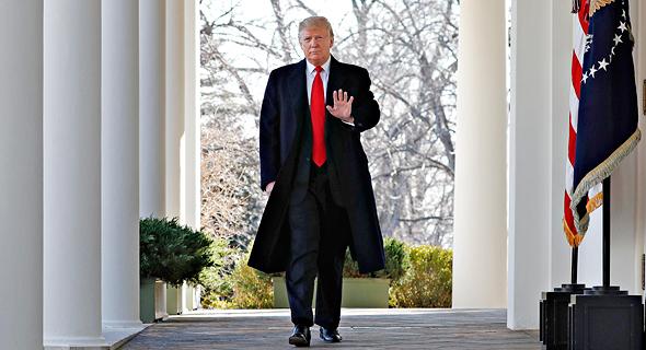 """נשיא ארה""""ב דונלד טראמפ 25.1.19, צילום: איי פי"""