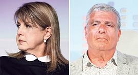 """אבי לוי מנכ""""ל מליסרון ו ליאורה עופר בעלת השליטה בחברה, צילומים: עמית שעל"""